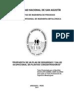 Propuesta de Un Plan de Seguridad y Salud Ocupacional en Pla