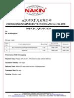 NAKIN Quotation and Warranty