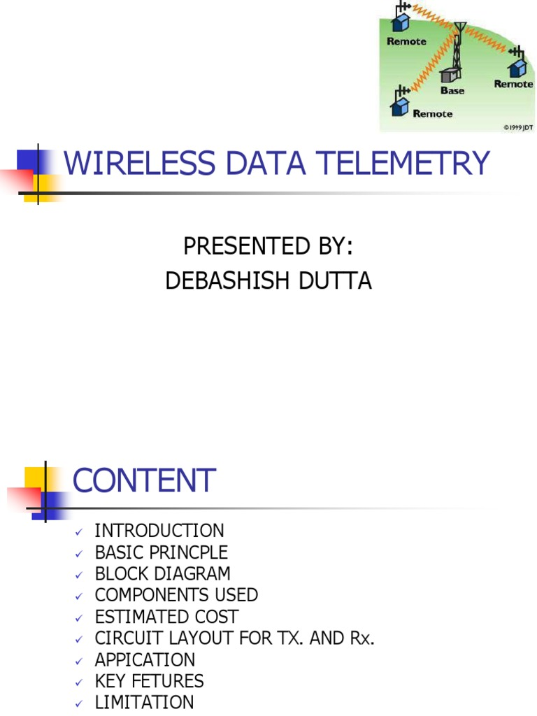 Wireless Data Telemetry By Devppt Is A Typical Block Diagram Of Optical Mouse Transmitter