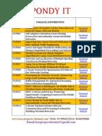 Parallel Distribution 2013-2014