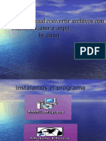 Mini manual convertir archivos con extensión. amr en .mp3