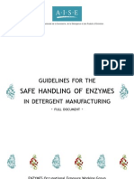 AISE Guidelines for the Safe Handling of Enzymes in Detergent Manufacturing