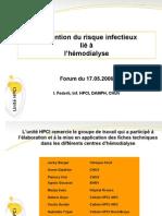Prévention du risque infectieux lié à l'hémodialyse