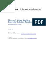 Microsoft Virtual Machine Converter Administration Guide