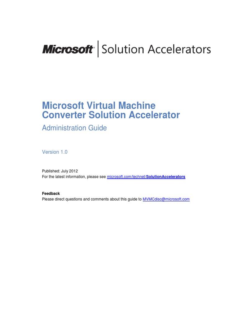 Microsoft Virtual Machine Converter Administration Guide | Hyper V