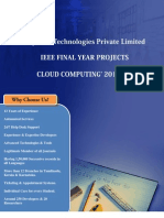Final Year IEEE Project 2013-2014  - Cloud Computing Project Title and Abstract