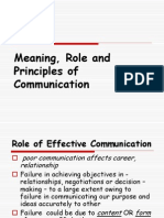 2- Meaning, Role and Principles of Communication