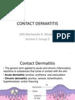 Derma Report Contact Dermatitis