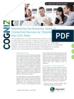 Maximizing the Business Value of Connected Devices by Transforming the CIO's Role