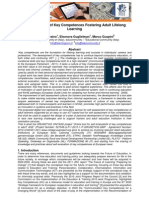 """""""Self Evaluation of Key Competences – Fostering Adult Lifelong Learning"""""""