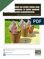 Contribution au livre vert sur le financement à long terme de l'économie européenne