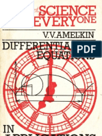 Differential Equations in Applications Science for Everyone