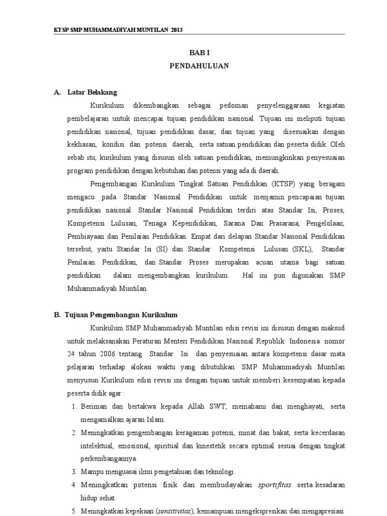 Ktsp Smp Muhammadiyah Muntilan 2012 13