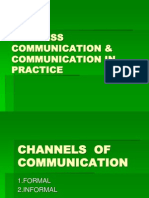 Business Communication & Communication in Practice