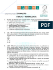 CADERNO DE EXERCÍCIOS DE TERMOLOGIA - 2013