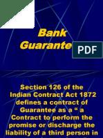 Bank Guarantees ISSUED