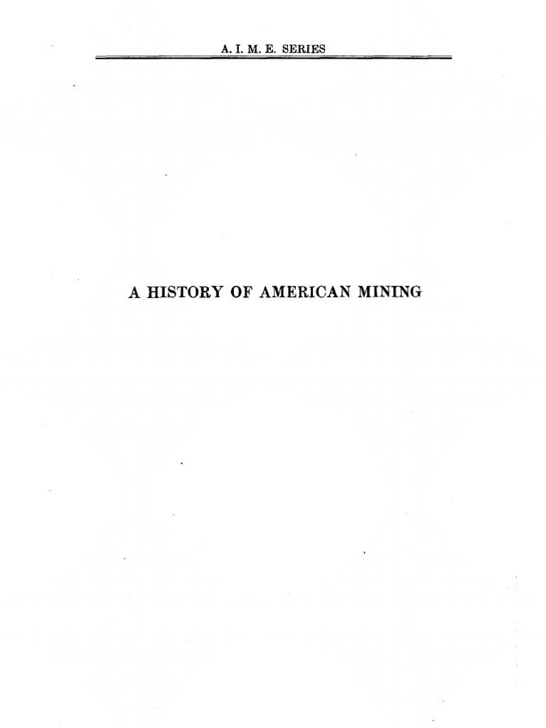 Thomas A Rickards A History Of American Mining Coke Fuel Iron Ore