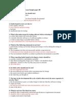 ITQSB Sample Paper 3