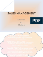 Basic of Sales Management