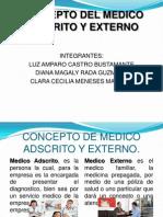 Concepto de Medico Adscrito y Externo
