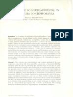 La Traza de Lo Medioambiental en La Cultura Contempornea (Riesco Chueca 1999)
