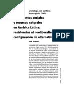 Movimientos sociales y recursos naturales en Améria latina