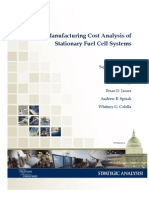SA 2012 Manufacturing Cost Analysis of Stationary Fuel Cell Systems