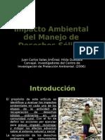 Impacto Ambiental  del Manejo de  Desechos Sólidos Ordinarios