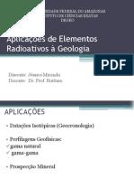 Aplicações de Elementos Radioativos à Geologia