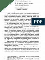 Los actos del lenguaje en la teoria y práctica literaria - Barrenechea