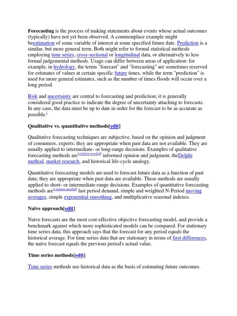 Forecasting   Forecasting (16 views)