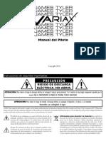 James Tyler Variax Pilot's Guide - Spanish ( Rev D )