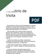 Relatório de Visita