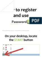 How to register and use Passwordbox