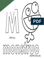 M Monstruo Printable