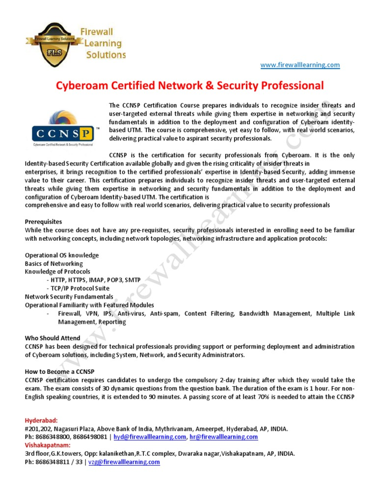 Ccnsp Training Course Content Computer Network Security E Commerce
