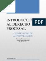 IDP 2011. CUESTIONARIO DE AUTOEVALUACIÓN