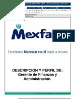 DFA-RH017 Descripcion de Puesto Gerente de Finanzas y Administracion