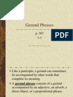 Gerund Phrases 7-7