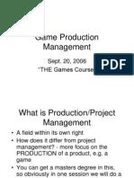 Game Prod Dev