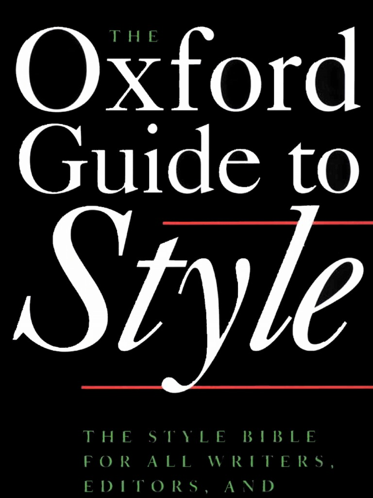 Oxford Style Guide Pdf International Standard Book Number Books