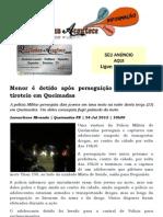 Menor é detido após perseguição policial com tiroteio em Queimadas