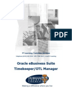 Timekeeper OTL Manager Course Manual