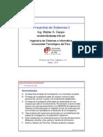 PS2 Clase 05 Estructura Del Proyecto de Tesis