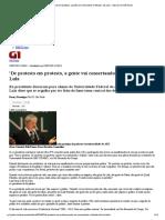G1 - 'De protesto em protesto, a gente vai consertando o telhado', diz Lula - notícias em São Paulo