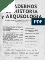 Acta de Fundacion de La Ciudad de Santiago de Guayaquil Miguel Aspiazu Carbo 1970