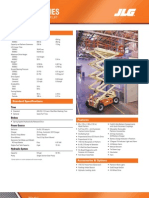 LE-Series Electric Scissor Lifts Spec Sheet