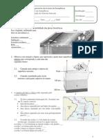 Ficha de avaliação de Ciências Naturais do 7ºAno Tectónica; Sismos; Vulcões