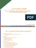 Tema 3. La Estrategia de Marketing Briefing y Posicionamiento