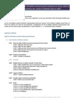 Liste Habitats Directive Corse Mars2013